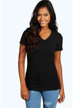 Isla Basic V Neck T-Shirt