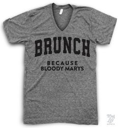 Brunch bloody marys V Neck t-shirt