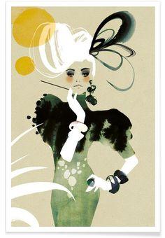 Flapper en Affiche premium par Ekaterina Koroleva | JUNIQE