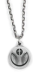 Baseball and Cross Necklace