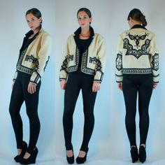 VTG 70s OAXACA Wool Embroidered Jacket Mexican by BluegrassVoodoo, $112.00