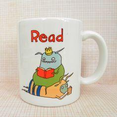 READ  monster mug by fishcakesoboy on Etsy, $16.00