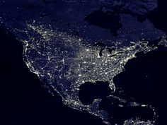 North America at Night. Print from Art.com, $29.99
