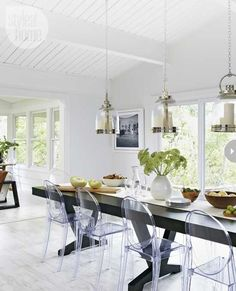 Unique Ideas About Ghost Chairs Dining 10 (Unique Ideas About Ghost Chairs Dining design ideas and photos Ghost Chairs Dining, Dining Room Chairs, High Chairs, Dining Rooms, Eames Chairs, Ontario, Luxury Dining Chair, Hanging Chair From Ceiling, Chairs For Rent