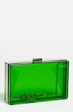 Clear green purse