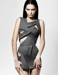 Mark Fast. future fashion, futuristic clothing, futuristic style, futuristic fashion, grey clothing, grey, future, futuristic, modern, model by FuturisticNews