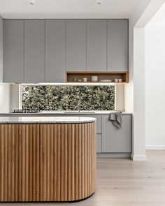 The Kitchen Trends To Know For 2021 | sheerluxe.com Curved Kitchen Island, Timber Kitchen, Kitchen Benches, Shaker Style Cabinets, Shaker Style Kitchens, Kitchen Cabinet Styles, Shaker Kitchen, Country House Colors, Timber Panelling