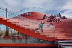 « Newer story Older story »   MVRDV completes Amsterdam tennis clubhouse with seating bowl on the roof Flip 14 October 2015 | 3 comments More:      ArchitecturePublic and leisureSlideshows   The roof of this bright red tennis clubhouse by Rotterdam firm MVRDV doubles up as an expansive seating area for game spectators