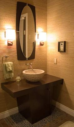 Love the style with a bowl sink in the bathroom but with 3 kids this will have to go in the master bath
