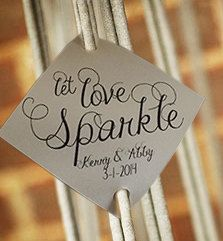Sparkler Tags Let Love Sparkle Wedding Favor 150 By RecipeBox