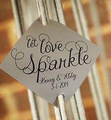 Sparkler Send Off Wedding Sparkler Tags Let Love by RecipeBox, $72.00