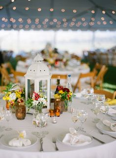 large lanterns for center pieces