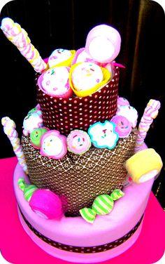 Sweet Treats Topsy Turvy Diaper Cake
