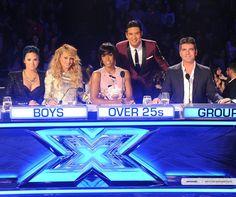 Demi Lovato, Paulina Rubio, Kelly Rowland, Simon Cowell and Mario Lopez X Factor USA