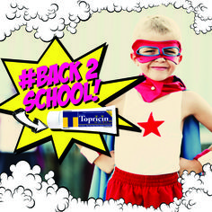 """Safeguard your Superhero for School!!! Pack Topricin for Children for their growing pains, bug bites, skin rashes, and more. Use promocode: BACK2SCHOOL25 for 25% Off Topricin for Children at www.topricinkids.com click on the """"Shop our Topricin Family"""" button towards the bottom of the page. (Offer Expires 9/13/15) #Back2School #parenting #mommybloggers #kids #sale #childrenproducts #littlesuperheroes"""