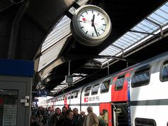 swiss trains + mondaine clocks take my breath away