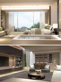 SCDA Mixed-Use Development Sanya, China- Show Villa (Type 3) Master Suite & Entertainment Lounge