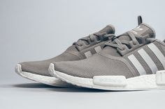 "The adidas NMD R1 Surfaces in a Clean ""Grey/White"" Colorway 