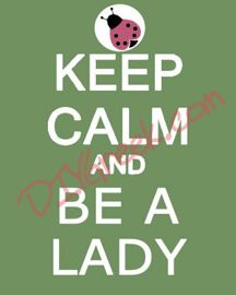 """Paint this on 8x10"""" canvas (pack3). Use stencil (purchase separately for $3.99) for """"KEEP CALM AND"""". Use stencil in supply sack for the lady bug. You can download art to trace for """"BE A LADY""""."""