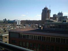 Beeld 4, uitzicht over Den Haag vanuit mijn flat