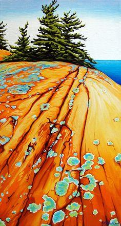 Margarethe Vanderpas - Fine Artist - Fox Islands, North Shore of Georgian Bay Landscape Art, Landscape Paintings, Landscapes, Illustrations, Illustration Art, Art For Art Sake, Canadian Artists, Elements Of Art, Cool Paintings