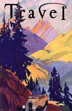 Beautiful! Vintage National Parks Travel Poster: Yellowstone