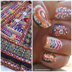 NAVRATRI SPECIAL NAILART Henna Nail Art, Henna Nails, Navratri Special, Get Nails, Nail Art Galleries, Cool Nail Art, Nails Magazine, Nail Arts, Community Art