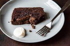 Nigella Lawson's Dense Chocolate Loaf Cake. This recipe is amazing, I need to try with a gluten free flour mix.
