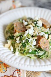 Zoodle and Chicken Sausage from Our Best Bites intro