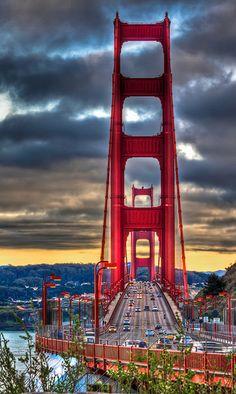 Golden gate through the mist san francisco california