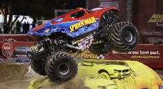 Spider-Man Monster Truck Party, Monster Jam, Monster Trucks, Huge Truck, Motocross Racing, Tractor Pulling, Chevrolet Trucks, Tractors, Spiderman