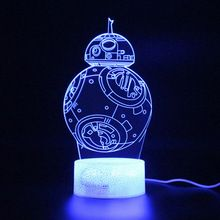 Star Wars Bb8 Lamp Illusion 3d Table Lamp Remote Control Touch