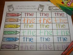 RAINBOW WRITING! Your kindergarten students will learn their words by sight when they write in colors bright! They can use crayons, markers or colored pencils to rainbow write each word.