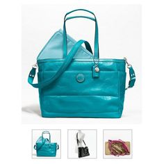 Coach diaper bag. Maybe... Not first pick of style but favorite color!