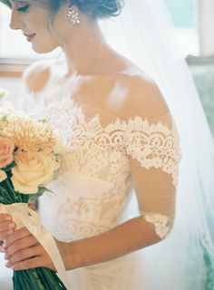 Bride's gown: Pallas Couture - Timeless & Elegant French Inspired Wedding by Sscout & Charm (Stylist), Hayley Cravigan (Planner) + Byron Loves Fawn - via Magnolia Rouge