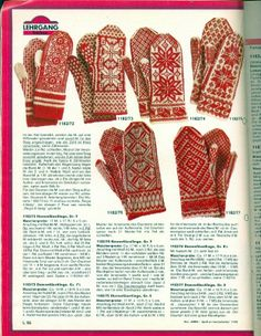Knitted Mittens Pattern, Fair Isle Knitting Patterns, Knit Mittens, Knitted Gloves, Knitting Socks, Knitting Stitches, Hand Knitting, Crochet Patterns, Fair Isles