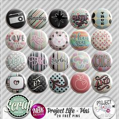 free pins--project life