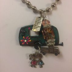 Camping honeymoon charm necklace $35.00