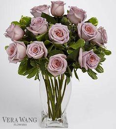 Vera Wang Lavender Rose Bouquet - 12 Stems of 20-Inch Premium Long Stemmed Roses