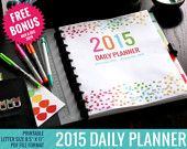 2015 Daily Planner Calendar Printable | Weekly Planner | Monthly Planner | Dated | Daily Agenda | 2015 Planner | 2015 Calendar | Day Planner