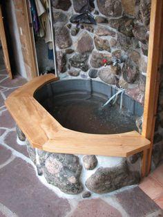 Ideas Backyard Hot Tub Ideas Stock Tank For 2019 Outdoor Tub, Outdoor Baths, Outdoor Bathrooms, White Bathrooms, Luxury Bathrooms, Master Bathrooms, Dream Bathrooms, Pool Diy, Stock Tank Pool