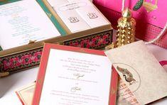 Sayak Trisha 04 Designer Invitation Premium Quality Laser Cut Work Card Collection - By Gold Leaf Design Studios - New Delhi Original Wedding Invitations, Wedding Invitation Cards, Wedding Stationery, Indian Wedding Cards, Wedding Thank You Cards, Invitation Kits, Invitation Design, Low Cost Wedding, Inexpensive Wedding Venues