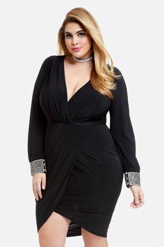 01ed904265 Plus Size Allura Embellished Cuff Dress Allura