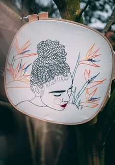 Embroidered Women Adorned With Flower-Shaped Tattoos and Leaf-Covered Clothing by Giselle Quinto 4d Animation, Embroidery Art, Floral Background, Colossal Art, Urban Art, Festival Design, Hokusai Great Wave, Contemporary Art, Realistic Paintings