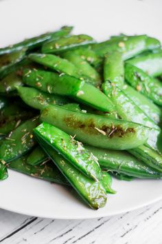 It's a bit funny that I'm posting this recipe just as about we're to tear up our green beans and plant our Fall sugar snap peas.  Soon our boxes will be cleaned out with long beans and the sugar snap pea seeds will be put into the ground.