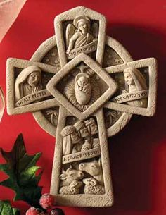 #Carruth #Nativity #Cross #gift #stone #handcrafted #handcaststone #madeinAmerica http://www.carruthstudio.com/categories/christmas.aspx/?source=pinterest