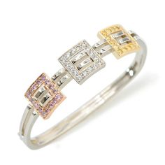 Interlude Collection - Pink, White and Yellow Diamonds set in 18K Rose, White and Yellow Gold. Yellow Diamonds, Colored Diamonds, Gold Platinum, Bangles, Bracelets, Fine Jewelry, Jewelry Rings, Diamond Jewelry, Gems