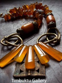 Sahara SUNSHINE One-of-a-kind artisan necklace. by Timbuktugallery