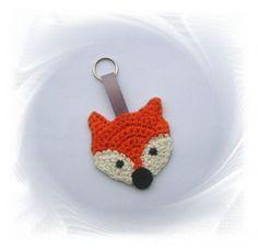 SaVö-Design - Schlüsselanhänger Fuchs, gehäkelter Anhänger, crochet fox, key chain