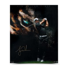 "Tiger Woods Autographed ""Eye of the Tiger"" 20 x 24- $1,100"